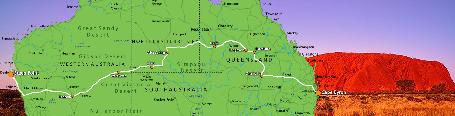 Map Of Western Australia 26th Parallel.29 Day Transcontinental Tour With Big Sky Tagalong Tours